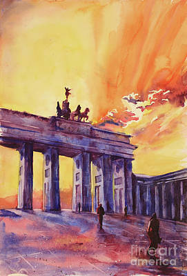 Painting - Brandenburg Gate- Berlin by Ryan Fox