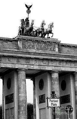 Photograph - Brandenburg Gate Berlin by John Rizzuto