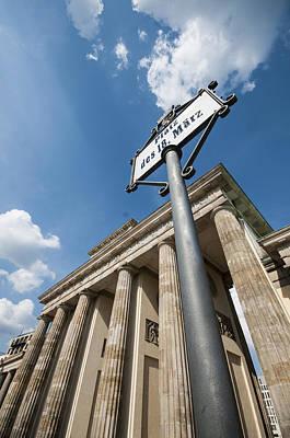 European City Digital Art - Brandenburg Gate Looking Up by Nathan Wright