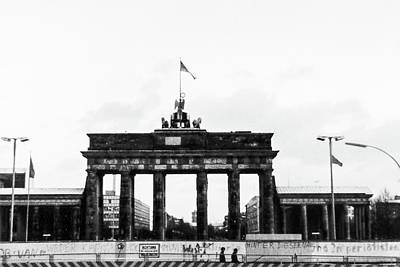 Photograph - Brandenburg Gate Pre-unification by SR Green