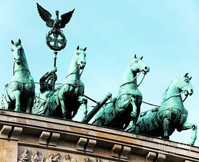 Photograph - Brandenburg Gate Quadriga by John Rizzuto