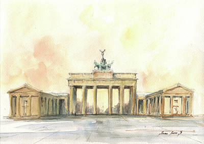 Painting - Brandenburger Tor, Berlin by Juan Bosco