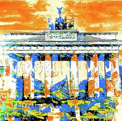 Berlin Mixed Media - Brandenburger Tor by Nica Art Studio
