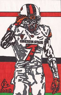 Action Sports Art Drawing - Brandin Cooks  by Jeremiah Colley