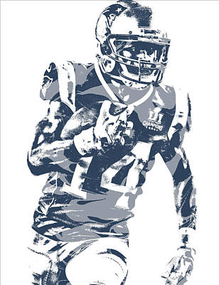 Mixed Media - Brandin Cooks New England Patriots Pixel Art 1 by Joe Hamilton