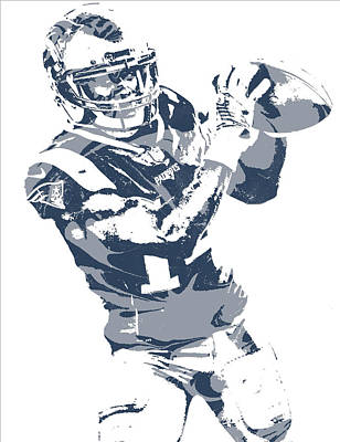 Mixed Media - Brandin Cooks New England Patriots Pixel Art 3 by Joe Hamilton