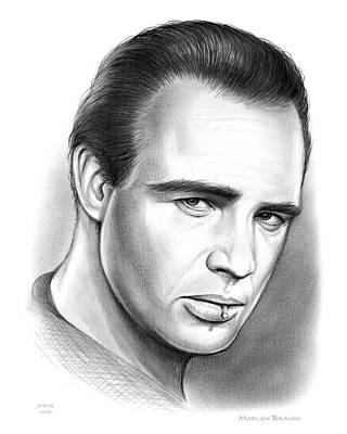 Drawings Royalty Free Images - Brando Royalty-Free Image by Greg Joens