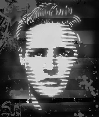 Mixed Media - Brando Odyssey Black And White by Surj LA