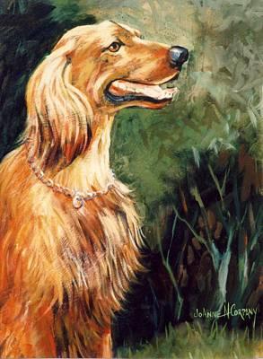Brandy   Irish Setter Art Print by JoAnne Corpany