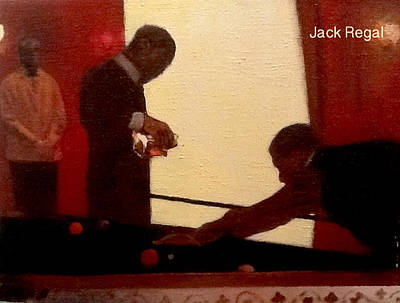 Snooker Painting - Brandy And Billiards by Jack Regal