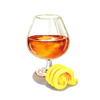 Martini Royalty-Free and Rights-Managed Images - Brandy Butter by Irina Sztukowski