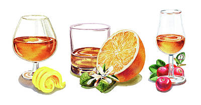 Painting - Brandy Whiskey Port by Irina Sztukowski
