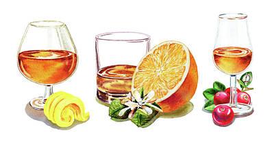 Martini Royalty-Free and Rights-Managed Images - Brandy Whiskey Port by Irina Sztukowski
