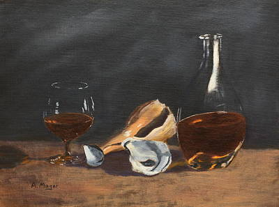 Painting - Brandy With Shells by Alan Mager