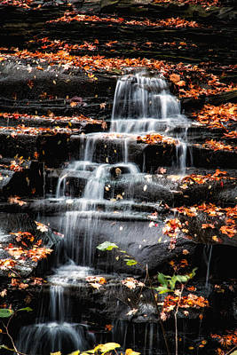 Ohio Photograph - Brandywine Falls In Autumn by Tom Mc Nemar