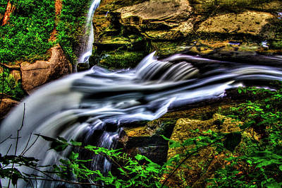 Photograph - Brandywine Falls Up Top by Roger Passman