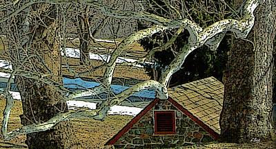 Brandywine Springhouse Art Print by Gordon Beck