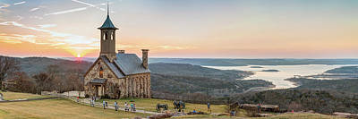 Photograph - Branson Missouri Top Of The Rock Sunset Panorama by Gregory Ballos