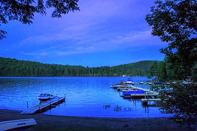 Photograph - Brant Lake Ny Blue Hour  by Christina Rollo