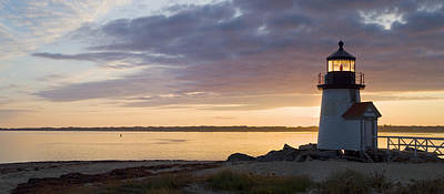 New England Lighthouse Photograph - Brant Point Dawn - Nantucket by Henry Krauzyk