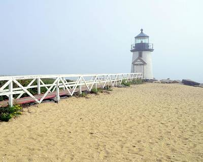 Photograph - Brant Point In Fog by Corinne Rhode