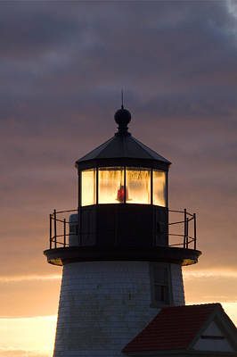 Lighthouse Photograph - Brant Point Lanthorn - Nantucket by Henry Krauzyk