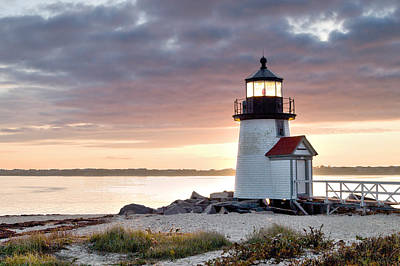 Brant Point Light Nantucket Massachusetts Original by Henry Krauzyk
