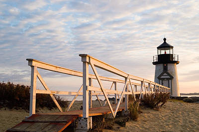 Brant Point Lighthouse And Walkway - Nantucket Original by Henry Krauzyk