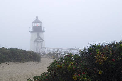 Krauzyk Photograph - Brant Point Mist - Nantucket by Henry Krauzyk