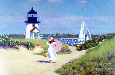 Painting - Brant Point Walk by Candace Lovely