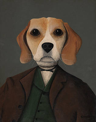 Tim Painting - Branwell Beagle by Timothy Campbell