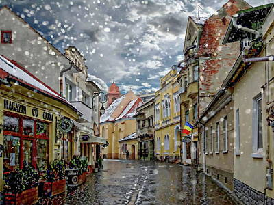 Photograph - Brasov In The Winter by Anthony Dezenzio