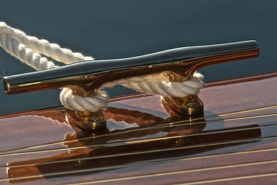 Photograph - Brass And Mahogany by Steven Lapkin