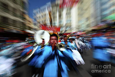 Marching Band Photograph - Brass Band Energy by James Brunker