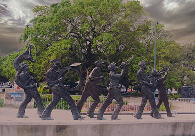 Brass Band Statue In Louis Armstrong Park Art Print by Art Spectrum