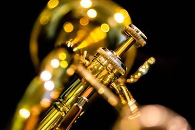 Trumpet Photograph - Brass Bokeh by Joshua Spiegler