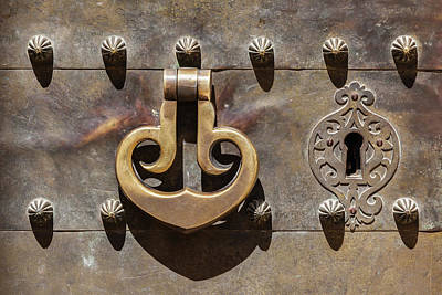 Photograph - Brass Castle Knocker by David Letts