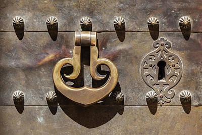 Photograph - Brass Castle Knocker by David Letts
