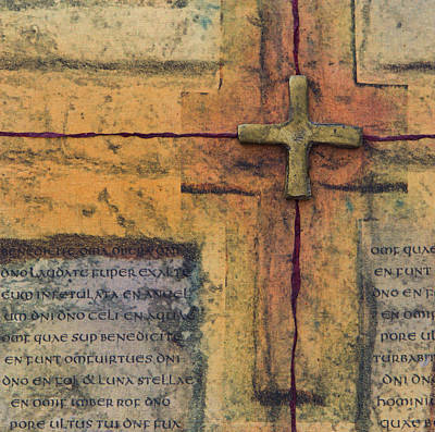 Wall Art - Mixed Media - Brass Cross by Jane Dill