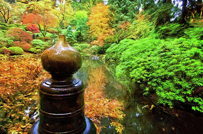 Photograph - Brass Crown At The Japanese Gardens  by Thom Zehrfeld