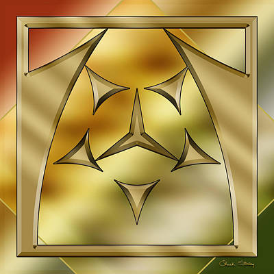 Digital Art - Brass Design 1 by Chuck Staley