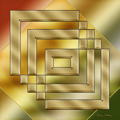 Digital Art - Brass Design 2 by Chuck Staley