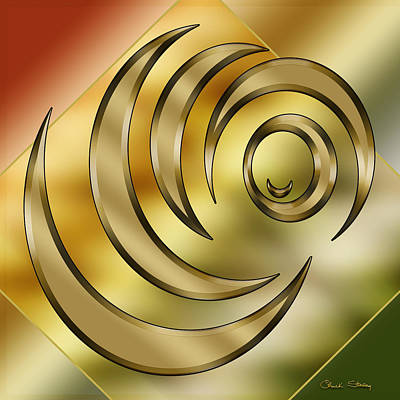 Digital Art - Brass Design 3 by Chuck Staley