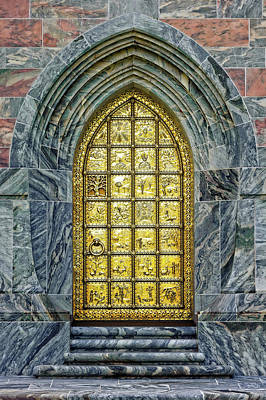 Photograph - Brass Entry Door At Bok Tower Gardens  -  Bokbrass943 by Frank J Benz