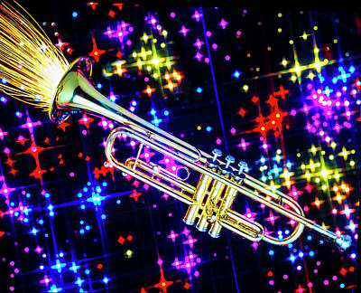 Trumpet Photograph - Brass Horn Celebrating by Garry Gay