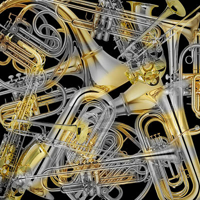 Photograph - Brass Instruments 3 by Andrew Fare