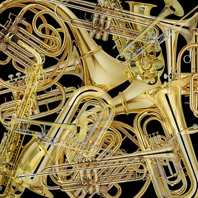 Photograph - Brass Instruments by Andrew Fare