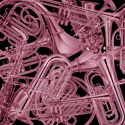 Photograph - Brass Instruments Rose by Andrew Fare
