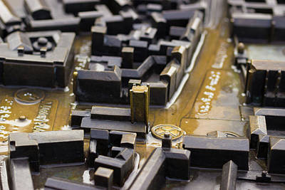 Photograph - Brass Map Of Cambridge by David Warrington