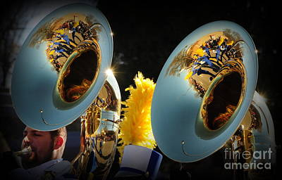 Marching Band Photograph - Brass Reflections by Rodger Painter